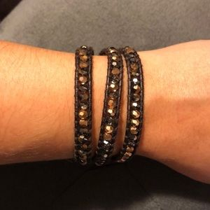 Chan Luu triple wrap bead bracelet